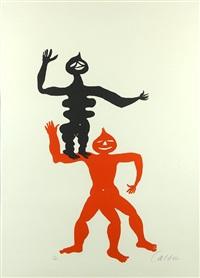 red and black figures by alexander calder