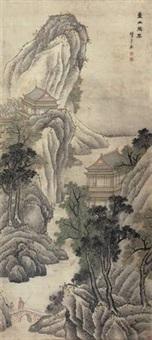 壶山胜概 (landscape) by chen zhuo