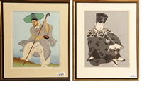 le maitre potier, corée (+ 4 others; set of 5) by paul jacoulet
