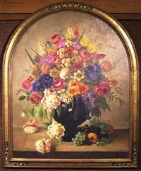 floral still life by h.l. sanger