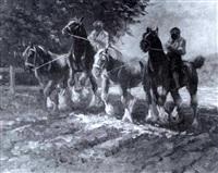 an der pferdeschwemme by richard herdtle