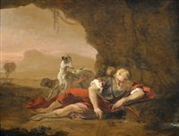 narcissus by abraham danielsz hondius