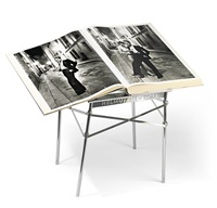 untitled (w/presentation table by philippe starck) by helmut newton