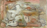 two reclining nudes by lucretia van horn