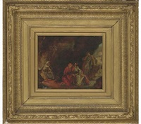 glaucus and ione in the cave of the witch of vesuvius by william maw egley