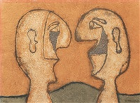 two personages (sold with 258b; set of 2) by rufino tamayo