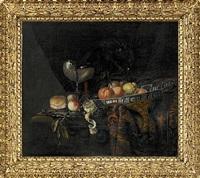 stilleben med apelsiner, persikor och citron by juriaen van streeck