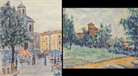 castello del valentino (+ mercatino in piazza carlina; 2 works) by piero nada