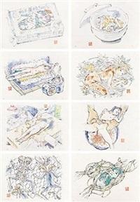 食用人造少女美味系列 (八张一套) (8 works) by makoto aida