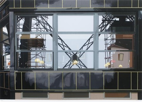 the eiffel tower (from urban landscapes iii) by richard estes