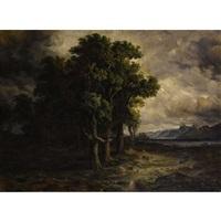 chênes battus par l'orage by alexandre calame