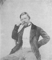 porträt eines sitzenden herrn mit brille by alois löcherer