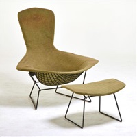 bird chair and ottoman by harry bertoia