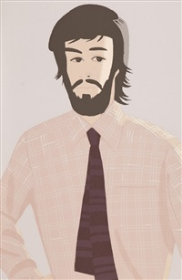 plaid shirt 1 (sold with 295b; set of 2) by alex katz