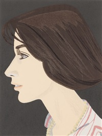 suzan (sold with 296b; set of 2) by alex katz