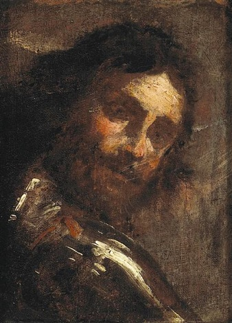 a man looking over his shoulder study by gian lorenzo bernini