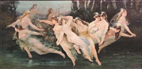 dancing nymphs by louis frederick berneker