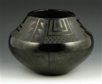 blackware vessel by maria martinez