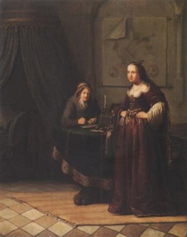 bathseba und ihre dienerin by jacob van spreeuwen