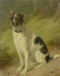 etude d'un chien bâtard by jacques-laurent agasse and wolfgang adam töpffer
