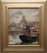 tug boat in the harbor by carle john blenner