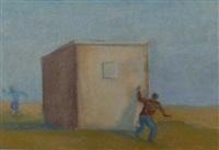 two kids playing by david keeling