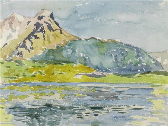 bündner berglandschaft by alberto giacometti