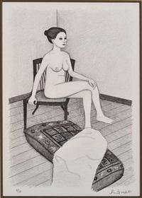 seated nude i by john brack