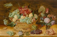 still life with fruits in a basket by isaac soreau