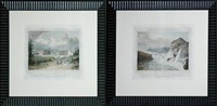 saw mill at the village of glenns (+ saratoga springs; 2 works from intineraire du fleuve hudson) by jacques-gerard milbert