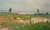 seaside landscape by louis b. sloan