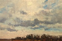 sunset landscape by louis b. sloan