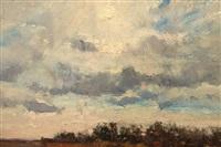 sunset landscape by louis b. sloan