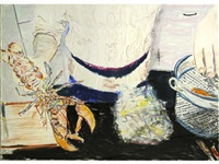 untitled (melons on a plate); untitled (lobster dinner) (2 works) by billy sullivan