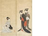 three beauties by japanese school-ukiyo-e (19)