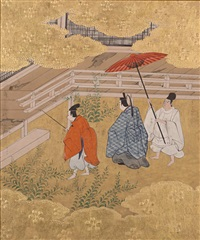 scenes from the tale of genji (album w/10 works) by japanese school-tosa (18)