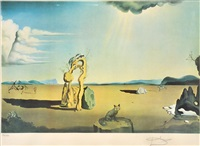 savage beasts in the desert (little animal kingdom) by salvador dalí