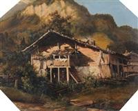 fermette de montagne by alexandre calame