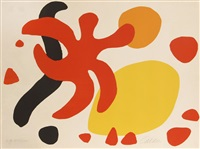 red, yellow, black (free forms) by alexander calder