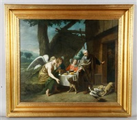 abraham and the three angels by jan josef horemans the younger