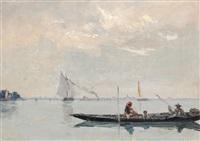 promenade sur la lagune by francois-louis-david bocion