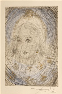 portrait of marguerite, from faust series by salvador dalí