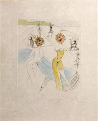 femme-fleurs au piano, from hippies by salvador dalí