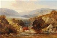 schottische landschaft mit rinderherde by joseph denovan adam and joseph adam