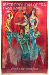 metropolitan opera, lincoln center, commissioned by lincoln center for the performing arts for the list art poster program for the american federation of arts by marc chagall