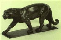 schreitender panther by rudolf pauschinger