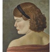 porträt einer frau mit haarband by guido locca