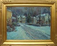 winter village by tatiana alexeeva