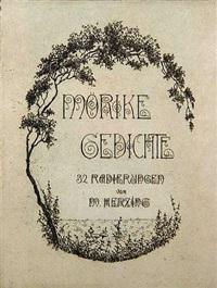 gedichte (portfolio of 32) by eduard mörike
