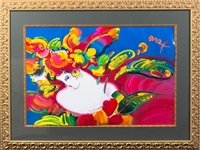 woman in love by peter max